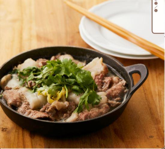豚ロースとお野菜の鍋【和風】